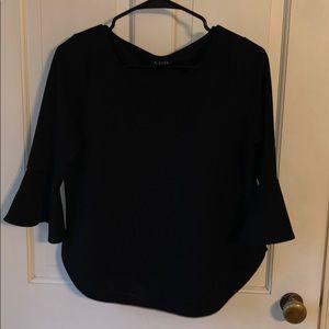 A. Byer black dress shirt bell sleeve Medium